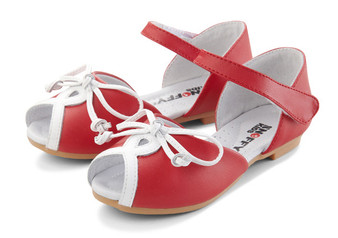 "Snoffy ""Candy"" Red Leather Sandals"