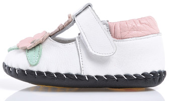 "Caroch ""Simplicity"" White Leather Soft Sole Shoes"