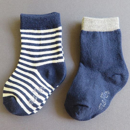 Ma Mer 2 Pack Socks Winter Stripes 0 to 1 years