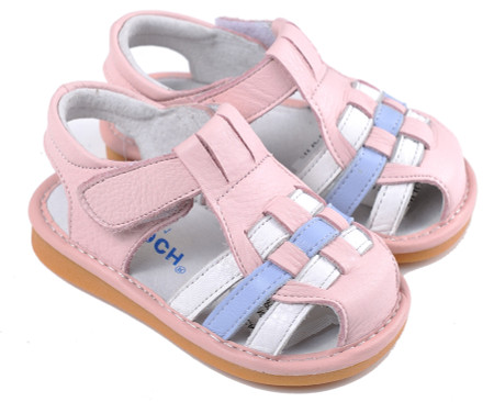 "Pre Order Caroch ""Check"" Pink Leather Sandals"