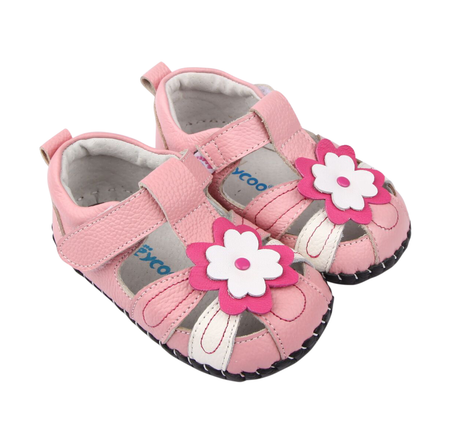 "Freycoo ""Sweet Pea"" Pink Leather Soft Sole Shoes"