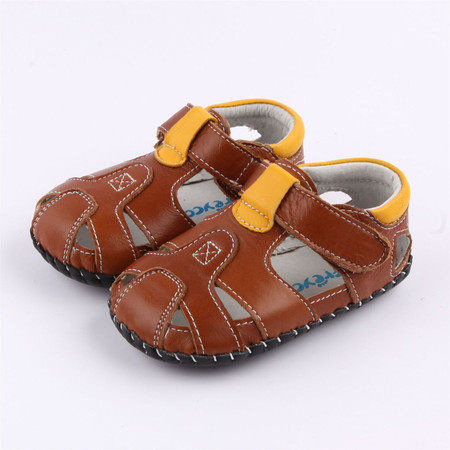 """Freycoo """"Breezy"""" Brown Leather Soft Sole Sandals"""