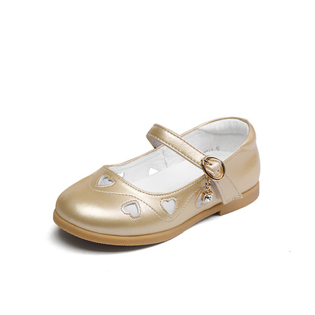 """Snoffy """"Diamonte"""" Gold Leather Shoes"""