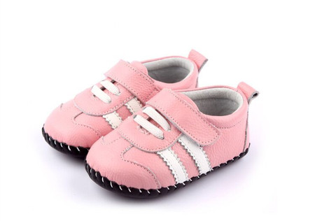 """Freycoo """"Sneaky"""" Pink Leather Soft Sole Shoes"""