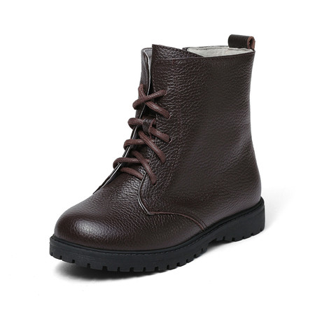 """Snoffy """"Sway"""" Brown Leather Boots"""