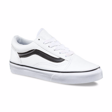 4e468a07c4 Vans Old Skool White Leather Kids Shoes - Kids Got Sole