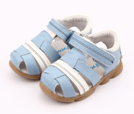 "Freycoo ""Max"" Blue Leather Sandals"