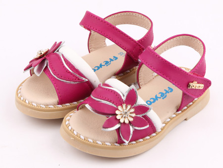 """Freycoo """"Felicity"""" Hot Pink Leather Sandals"""