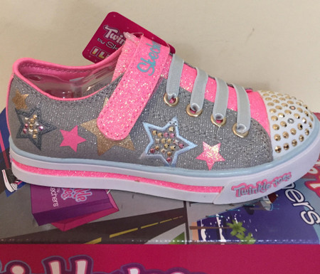 Skechers Twinkle Toes Twinkerella Sparkle Glitz Light Up Girls Shoes Aus 2 only