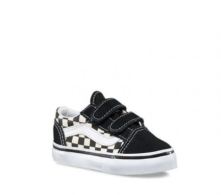 Vans Old Skool V Primary Check  Toddler Shoes
