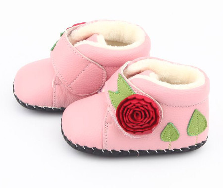 """Freycoo """"Rosie"""" Pink Soft Sole Leather Boots"""