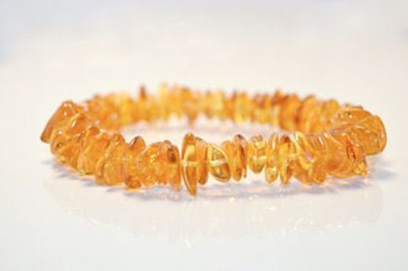 Grace & Favour Baltic Amber Teething Necklace 33 cm Polished Cider Barock