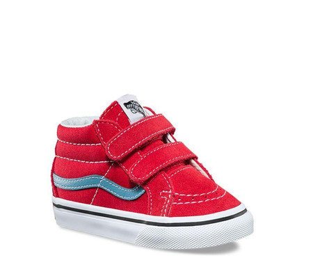 Vans SK8-Mid Rococco Red Re Issue Toddler Shoes - Kids Got Sole 6164a7671
