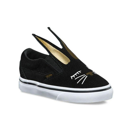 Vans Slip-On Bunny Black  Girls Toddler Shoes