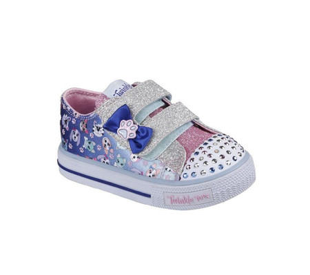 Skechers Twinkle Toes Princess Paws Light Up Toddler Girls Sneakers