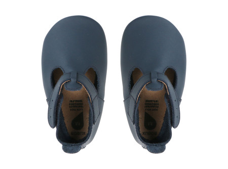 Bobux Jack and Jill Navy Soft Sole Shoes