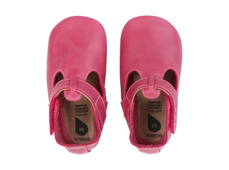 Bobux Jack and Jill Dark Pink Soft Sole Shoes