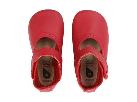 Bobux Delight Red Soft Sole Shoes