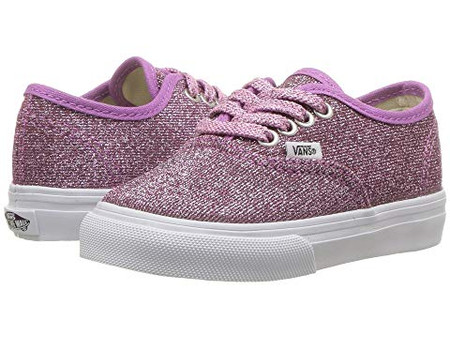 1388e0a01645 Vans Authentic Lurex Glitter Pink Girls Shoes - Kids Got Sole