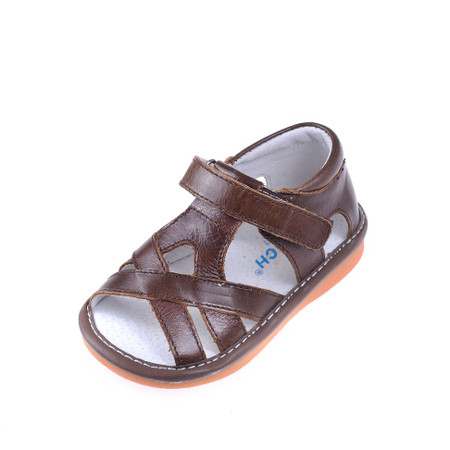 """Caroch """"Nathan"""" Brown Leather Sandals"""