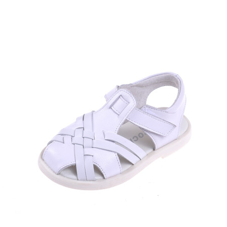 """Caroch """"Kirsty"""" White Leather Sandals"""