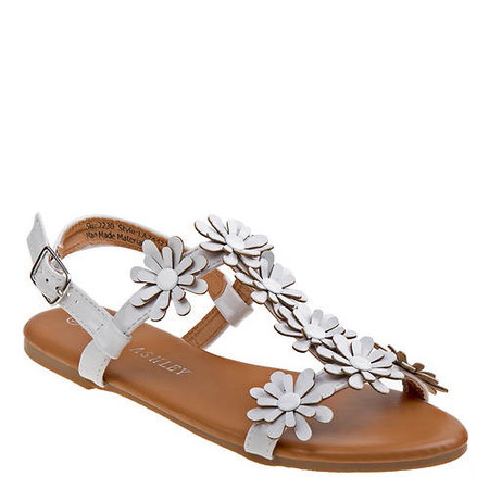 Laura Ashley Celia White Sandals