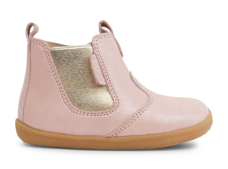 Bobux Step Up Jodhpur Blush Shimmer leather Boot