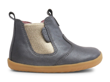 Bobux Step Up Jodhpur Charcoal Shimmer leather Boot