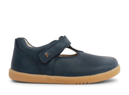 Bobux I Walk Louise T Bar Navy Leather Shoe