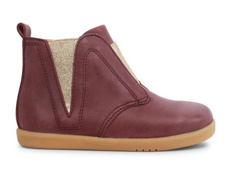 Bobux I Walk signet Plum Leather boots