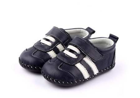 "Pre Order Freycoo ""Sneaky"" Navy Leather Soft Sole Shoes"