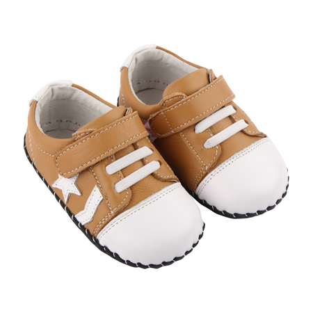 """Pre Order Freycoo """"Cruise"""" Caramel Leather Soft Sole Shoes"""