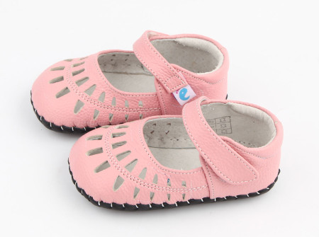 """Freycoo """"Tear Drop"""" Pink Soft Sole Leather Shoes"""