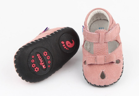 """Pre Order Freycoo """"Wonder"""" Pink Soft Sole Leather Shoes"""