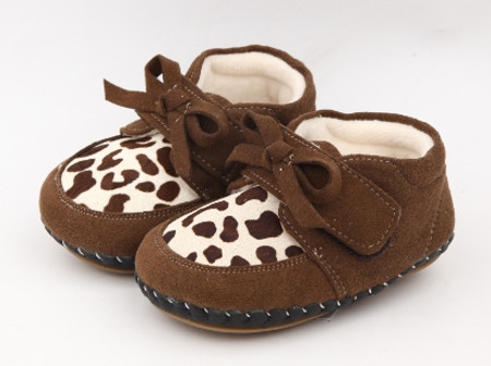 """Freycoo """"Animal"""" Brown Soft Sole Leather Shoes"""