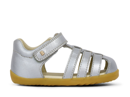 Bobux Step Up Silver leather Sandals