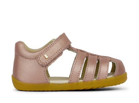 Bobux Step Up Jump Rose Gold leather Sandals