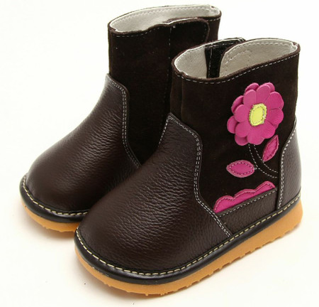 """Freycoo """"Grow"""" Brown Leather Boots"""