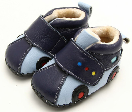 """Freycoo """"Racer"""" blue Soft Sole Leather Boots"""