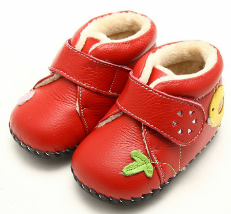 """Freycoo """"Maisie"""" Red Soft Sole Leather Boots"""