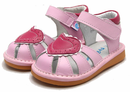 """Freycoo """"Love"""" Pink Leather Sandals"""