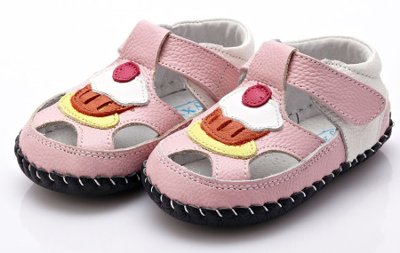 """YXY """"Cupcake"""" Pink Leather Soft Sole Shoes"""