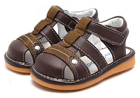 """Freycoo """"Morgan"""" Brown Leather Sandals"""