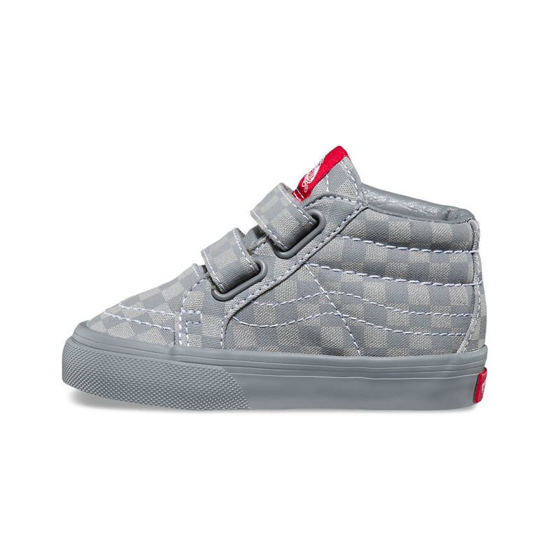 16cf2ea1ca Vans SK8-Mid Grey Checkerboard Re Issue V Toddler Shoes - Kids Got Sole