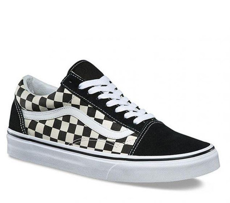 e14b52c3548 Vans Old Skool Primary Check Black Kids Shoes - Kids Got Sole