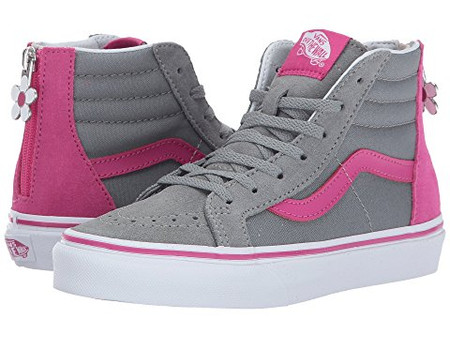 Vans SK8-HI Very Berry Grey Mist Girls High Tops - Kids Got Sole 03904461c