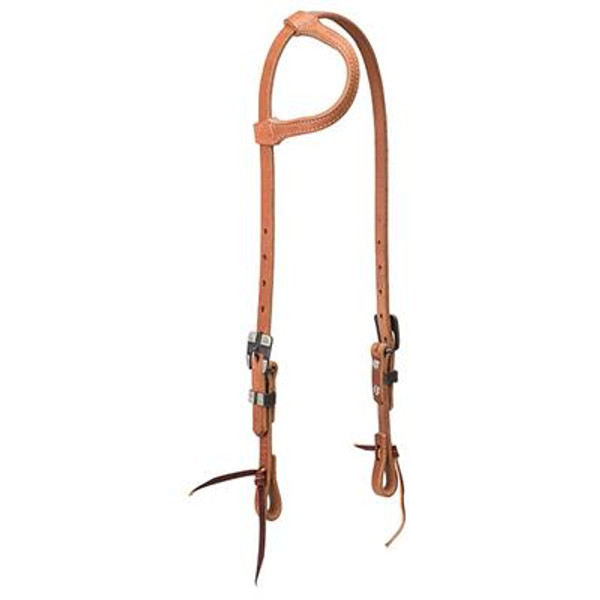 Weaver Earloop Headstall w/ Buffed Buckles