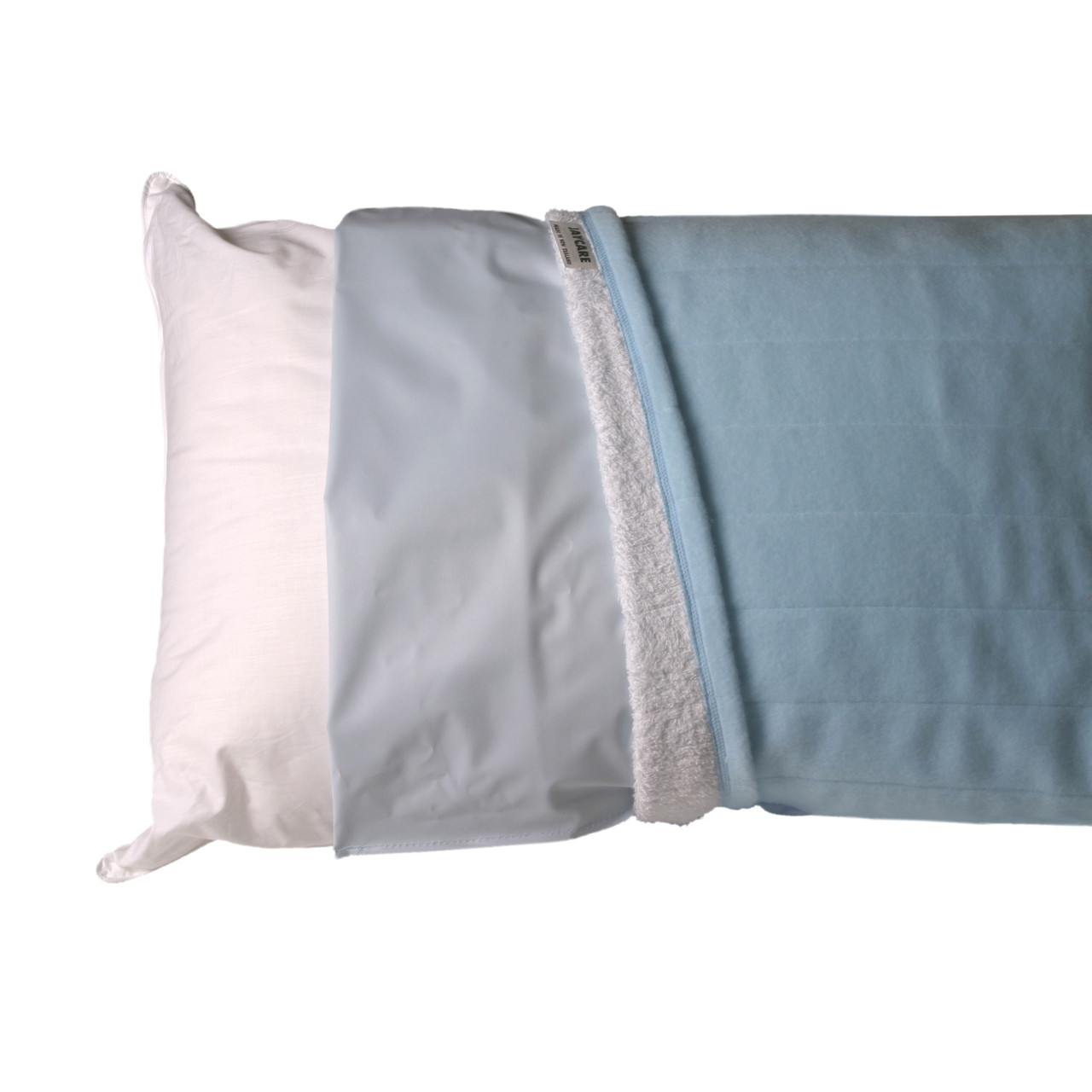 Pillow made up with Jaycare Water Proof and Adsorbent Pillow Covers