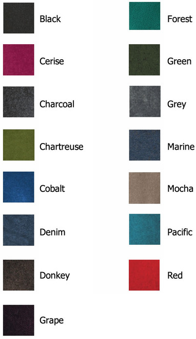 Koru Knitwear Colour Chart