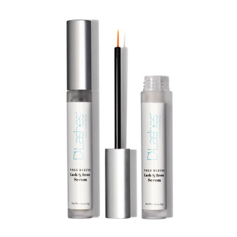 This silky serum helps provide moisture to the lash and brow area and supports the look of fuller, thicker lashes and brows. The vitamin E and vegetable- derived squalane helps condition the lash and brow area to visibly enhance thickness.  This serum also contains CoQ10, also known as Coenzyme Q10, an antioxidant, is used to support the look of healthy lashes and brows. Combined with an Amino Acid Complex, daily application helps to visibly support the look of fuller lashes and brows.